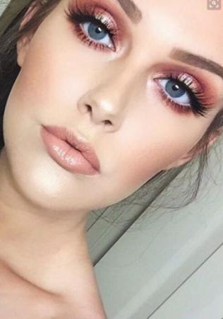 rose gold make up